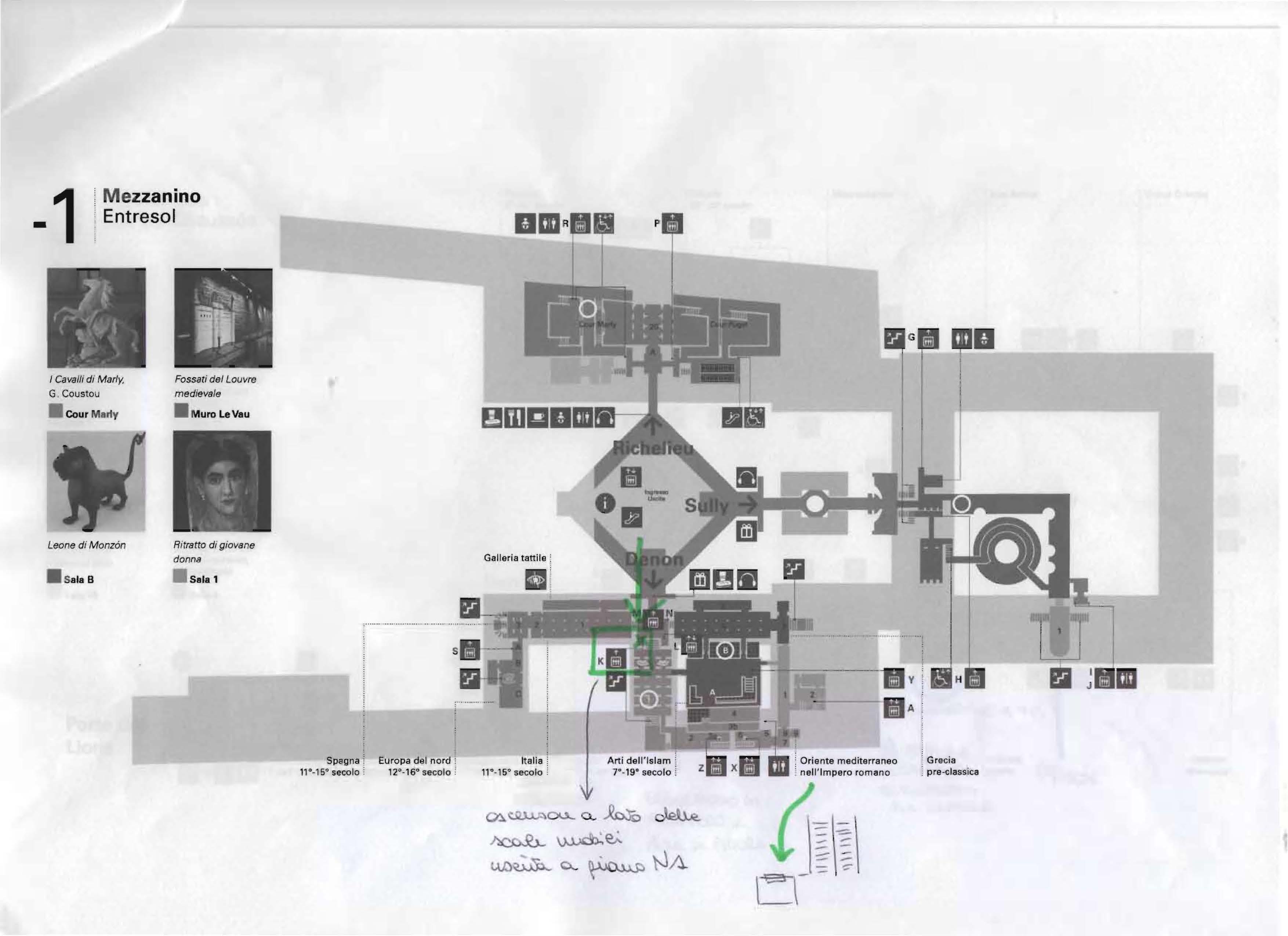 Il codice Pàtton - mappa del Louvre 3