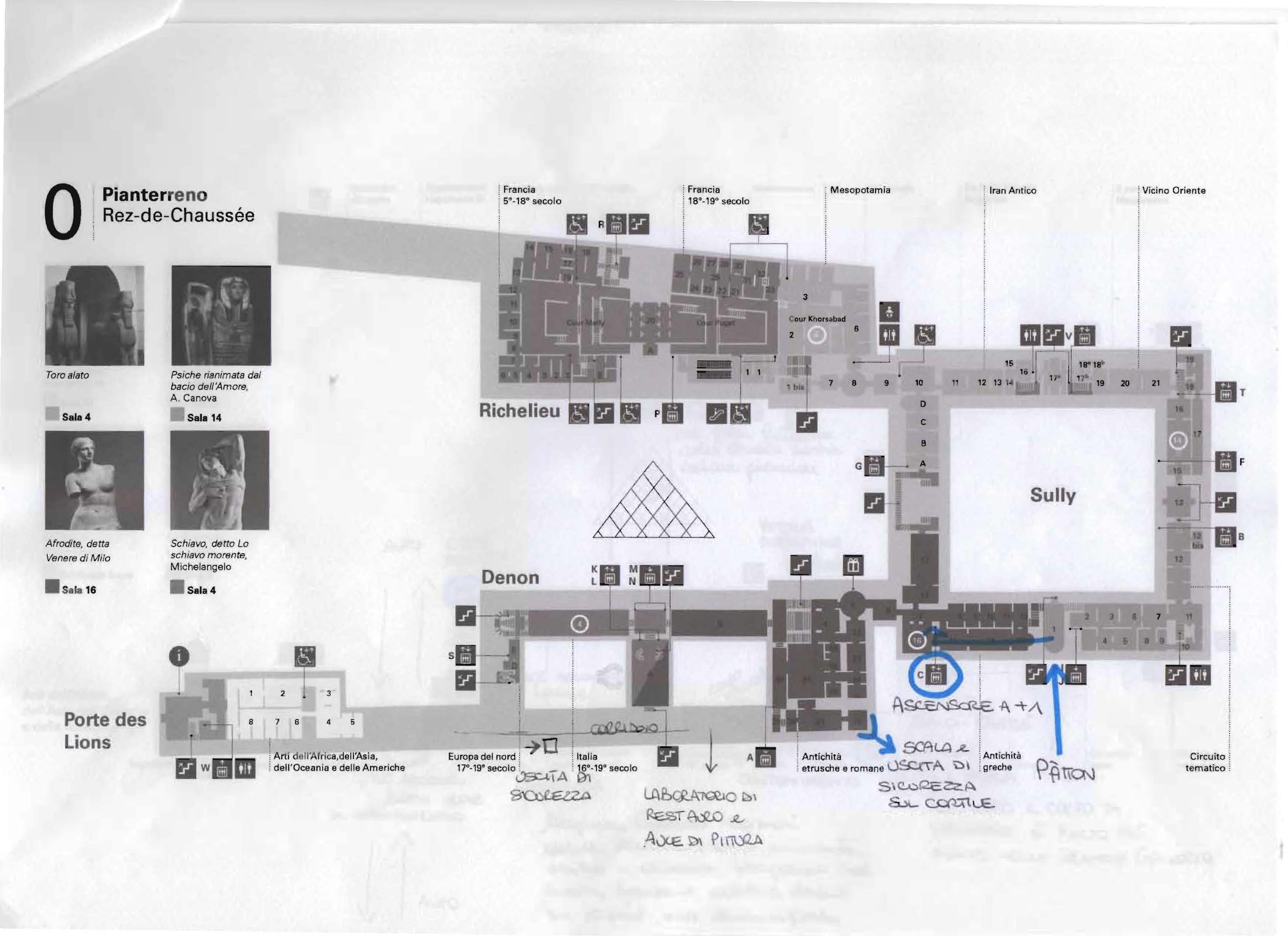 Il codice Pàtton - mappa del Louvre 4
