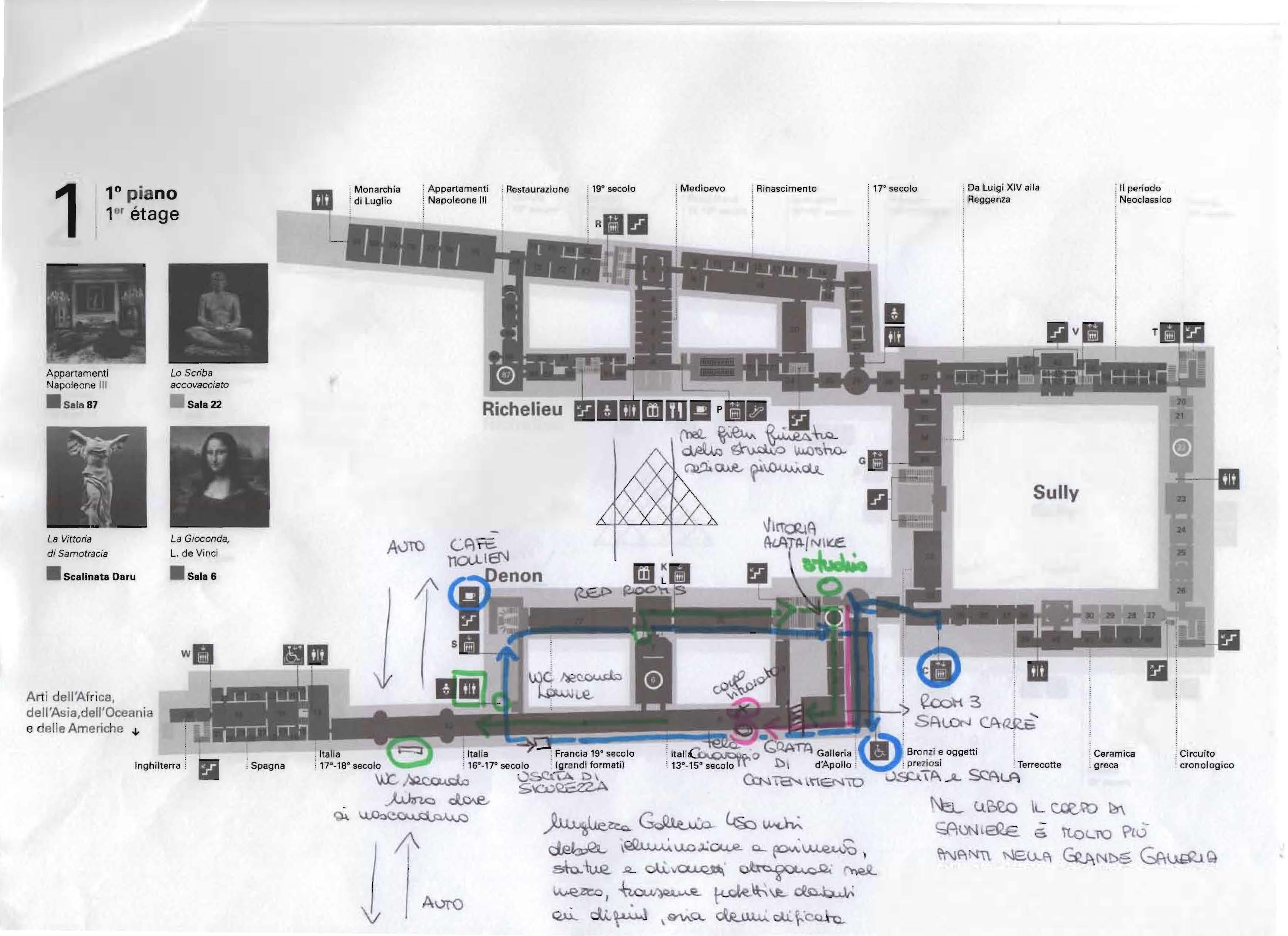 Il codice Pàtton - mappa del Louvre 5