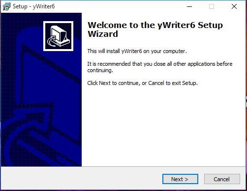 yWriter6 - Installazione1