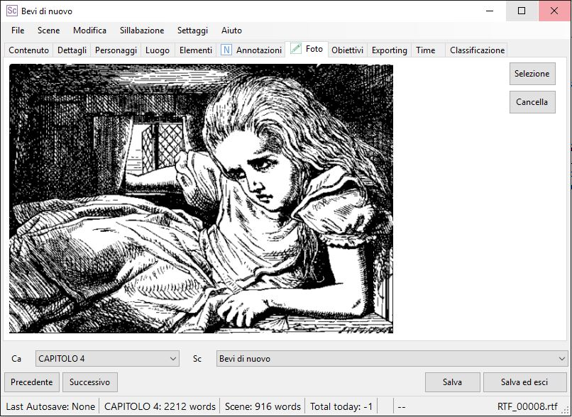 yWriter6 - EditorScene_Foto2