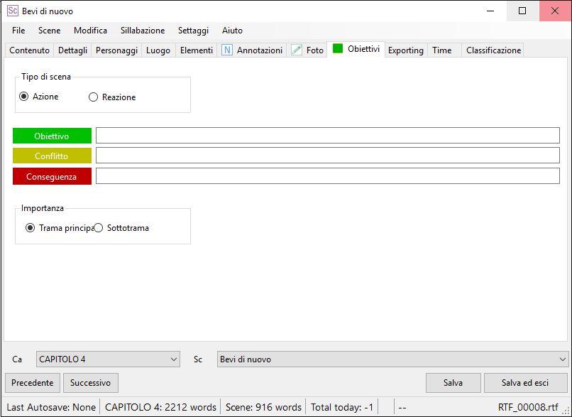 yWriter6 - EditorScene_Obiettivi1