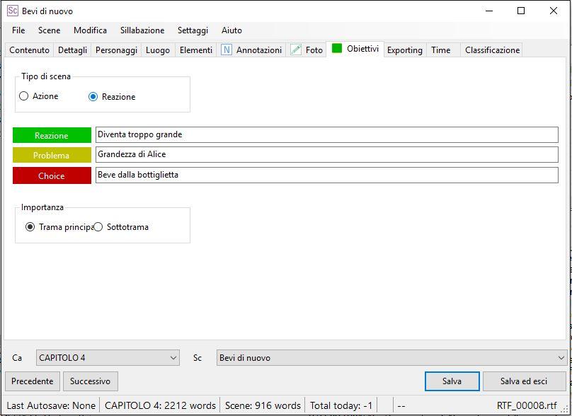 yWriter6 - EditorScene_Obiettivi2
