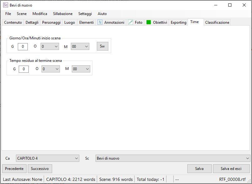 yWriter6 - EditorScene_Time1