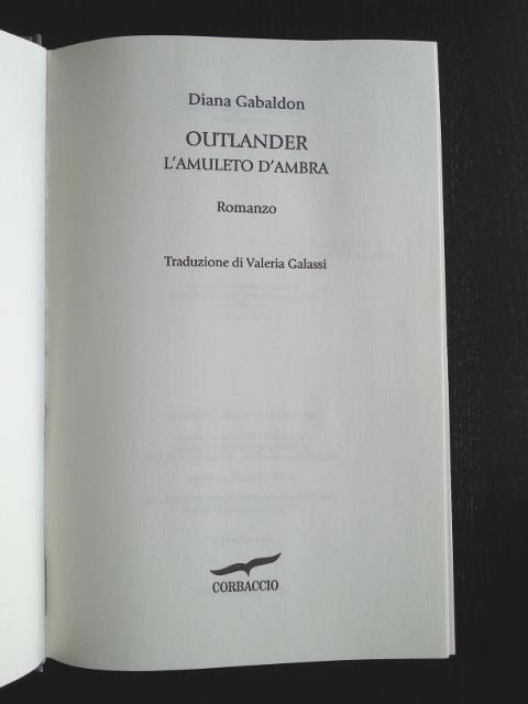 Le parti del libro: Frontespizio
