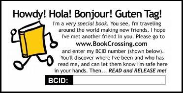 BookCrossing etichetta ufficiale