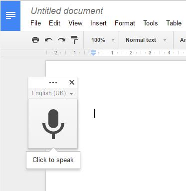 Google Drive voice typing 5