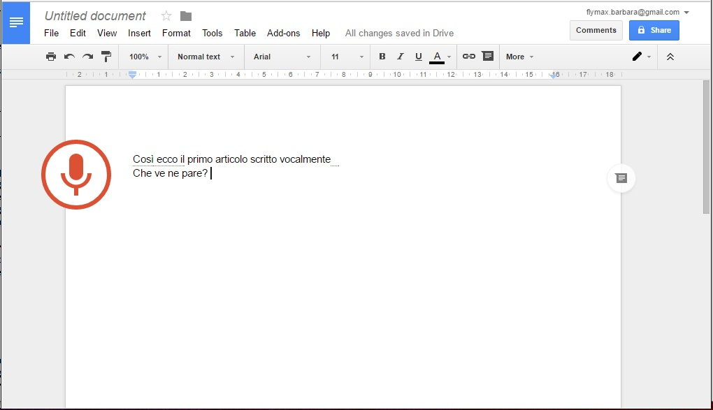 Google Drive voice typing 9