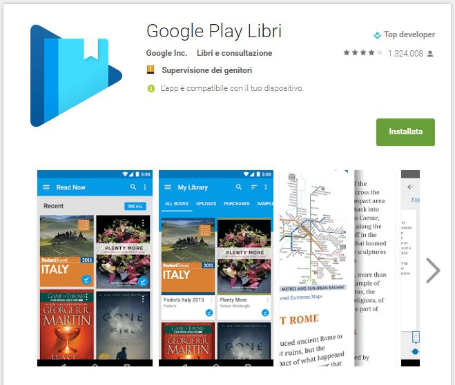 Leggere ebook dal cellulare - Google Play Libri