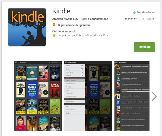 Leggere ebook dal cellulare - Kindle