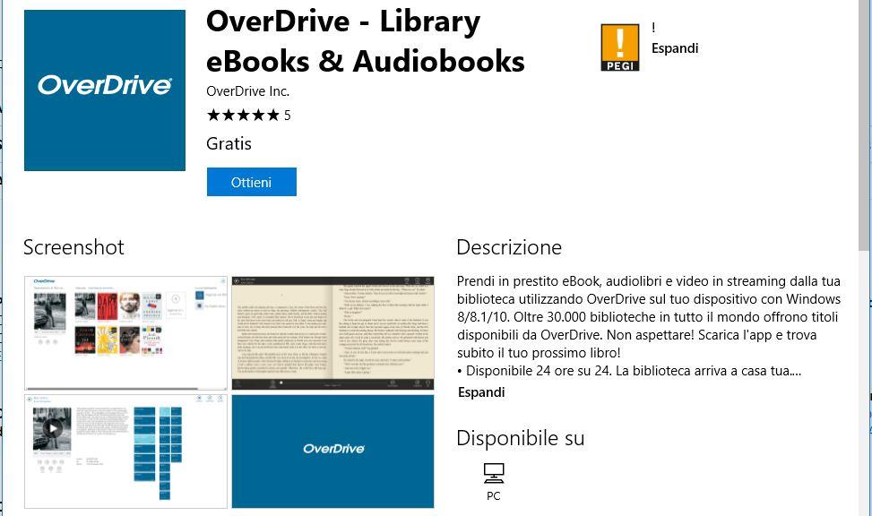 Leggere ebook dal cellulare - OverDrive