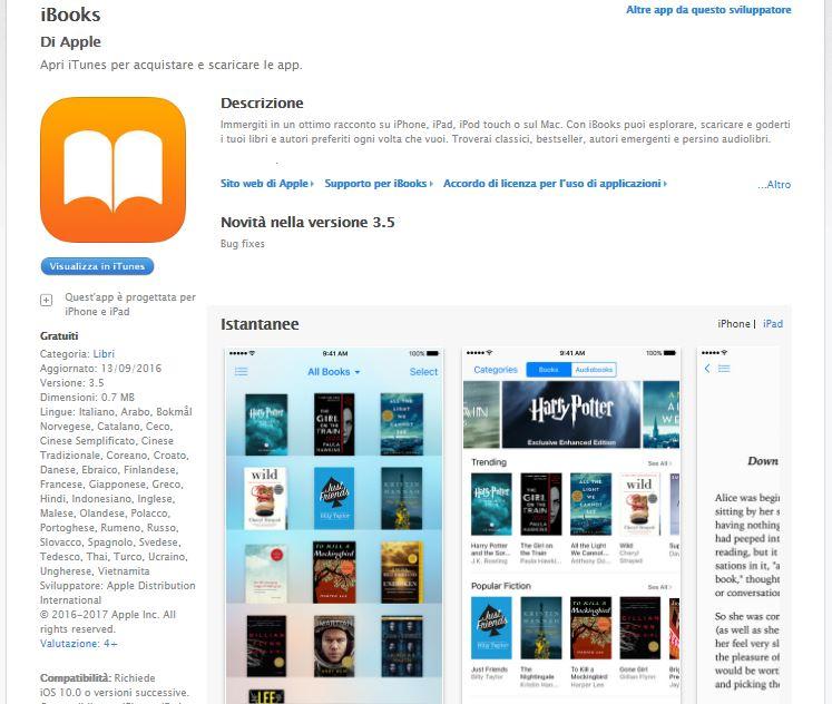 Leggere ebook dal cellulare - iBooks