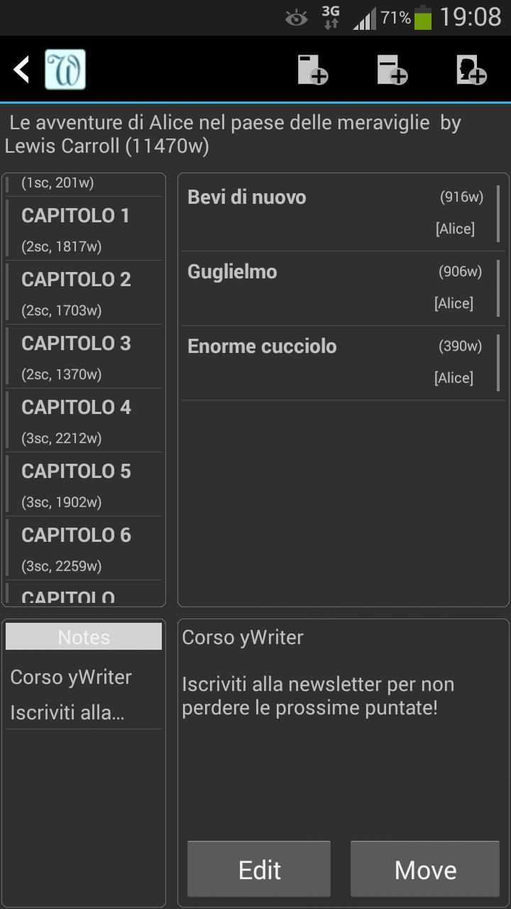 yWriter6 - Editor9_Note