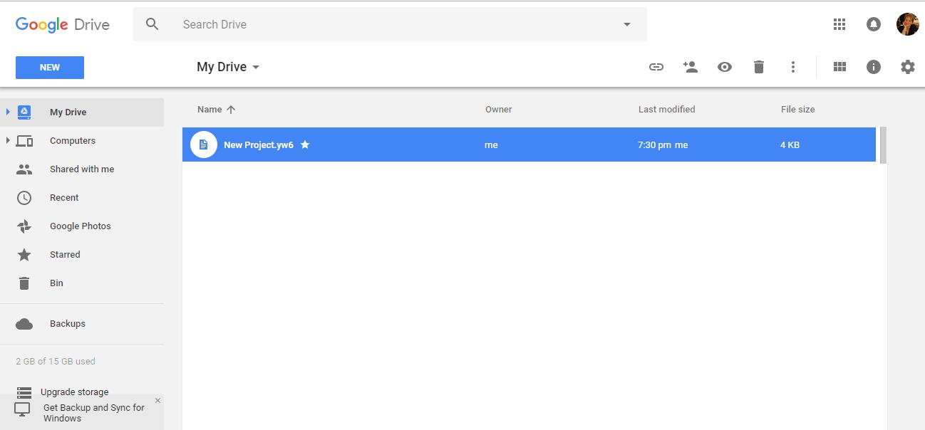 yWriter6 - New4_GoogleDrive
