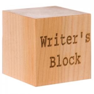 Il blocco dello scrittore, in legno