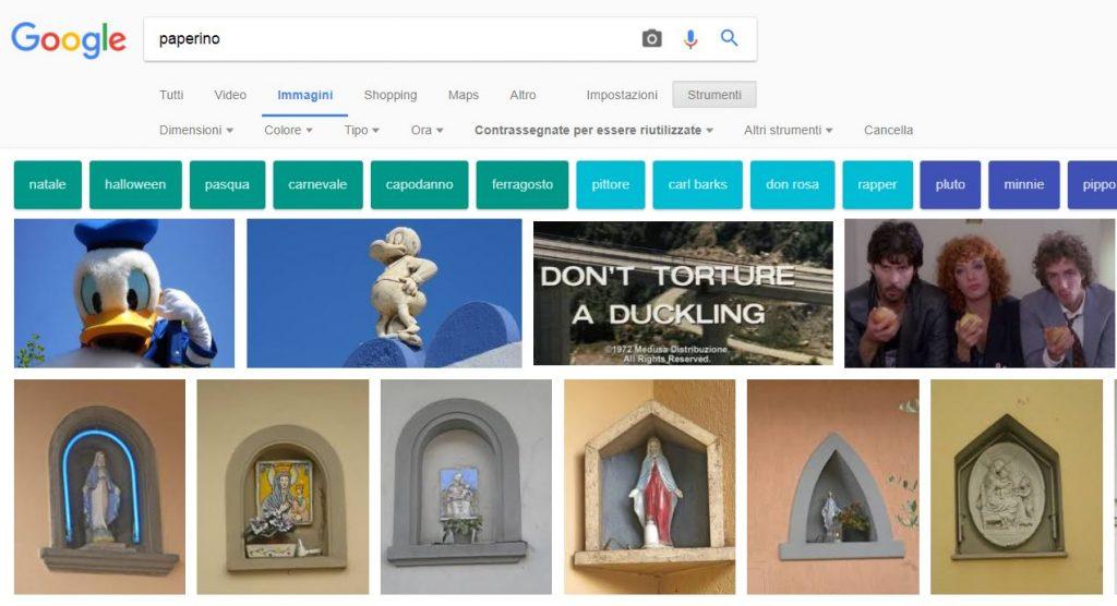 Google - Ricerca di immagini con filtro per il riutilizzo gratuito