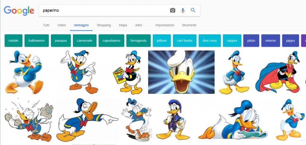 Google - Ricerca di immagini senza filtro sulle licenze