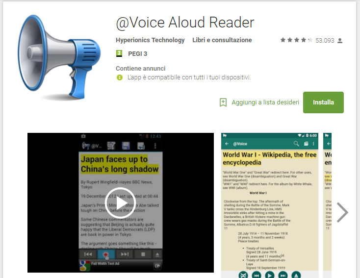 @Voice Aloud Reader - Audiolibri