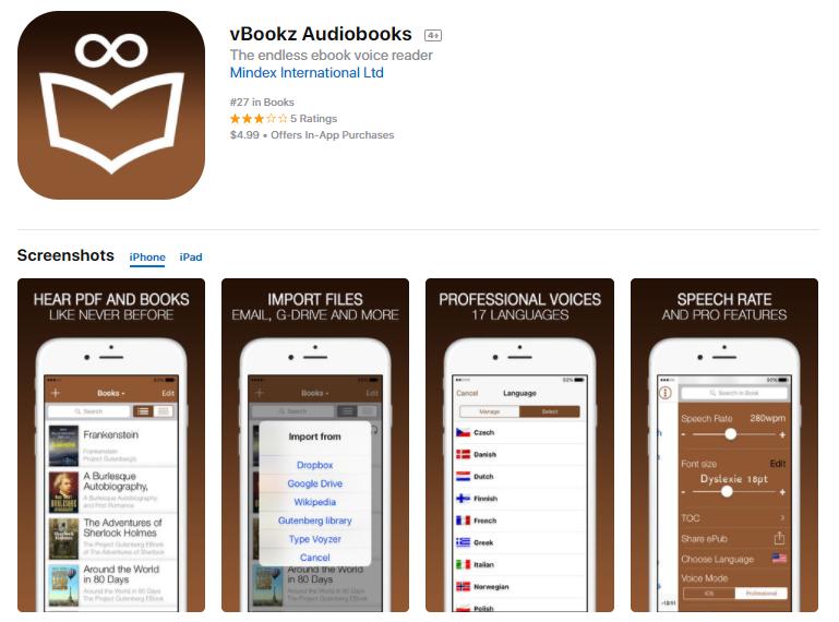 vBookz audiobooks - Audiolibri