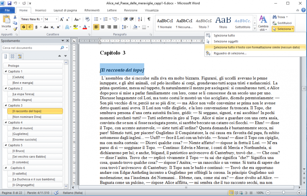Office2010 - Selezione per stile