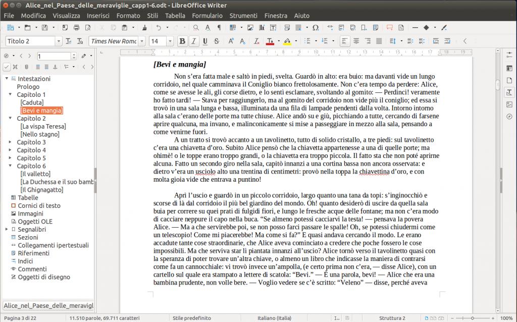 LibreOffice Writer - Navigatore
