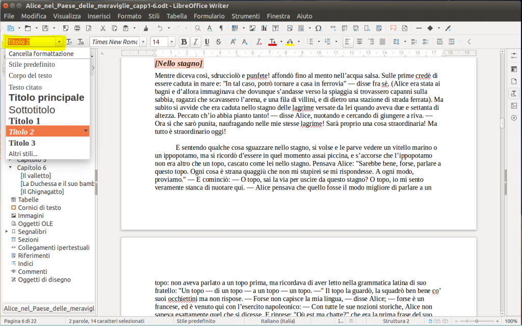 LibreOffice Writer - Stili