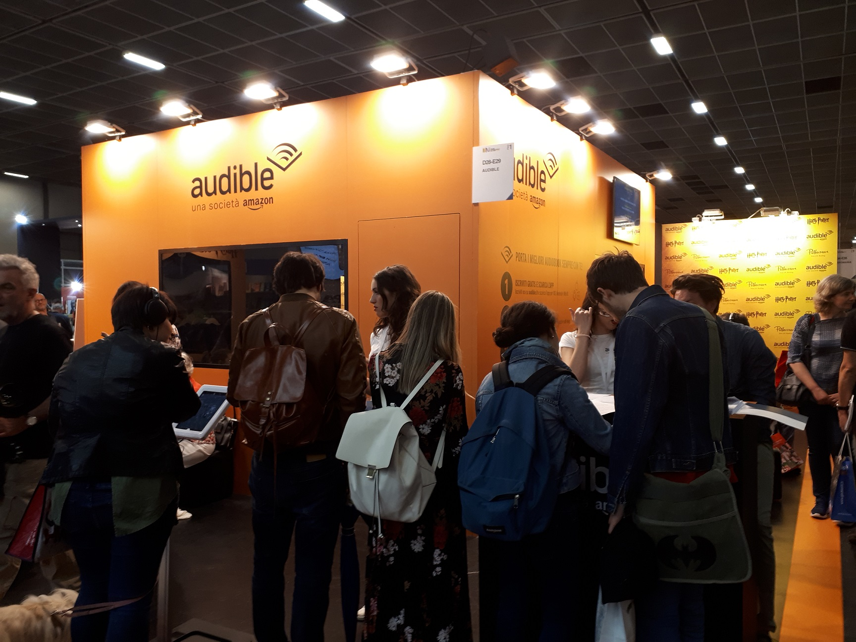 Salone del Libro di Torino 2018 - stand Amazon Audible