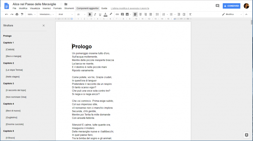 Google Docs - Documento copiato