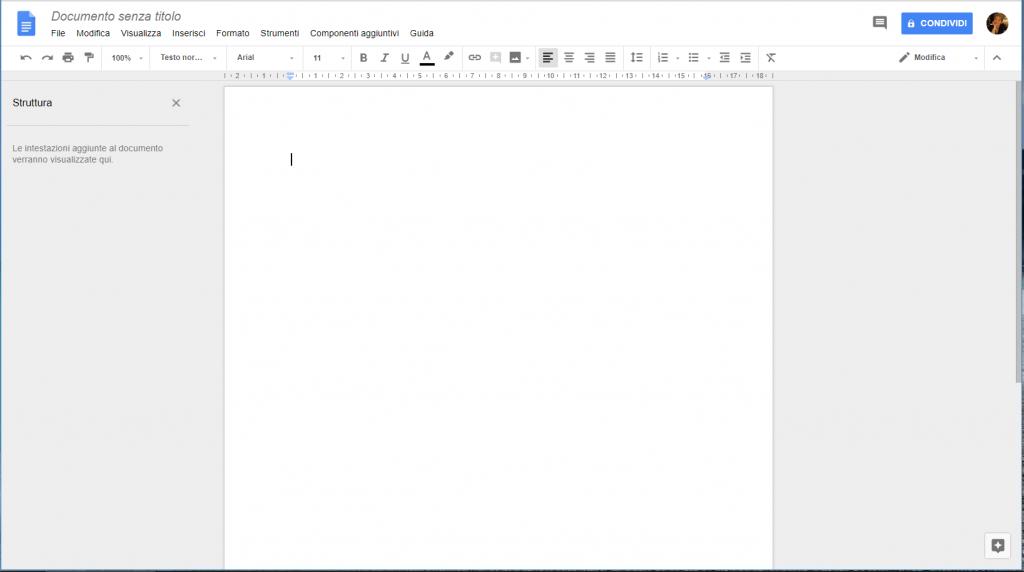 Google Docs - Documento senza titolo
