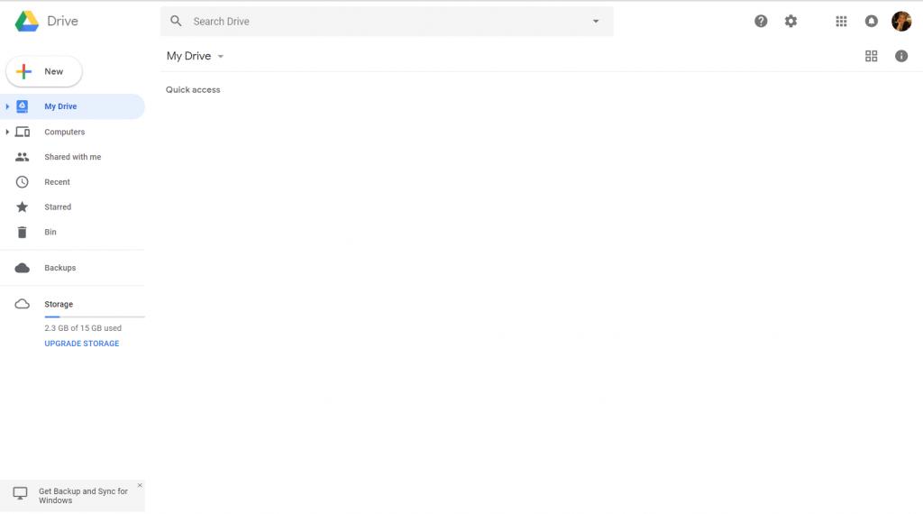 Google Docs - Homepage in inglese