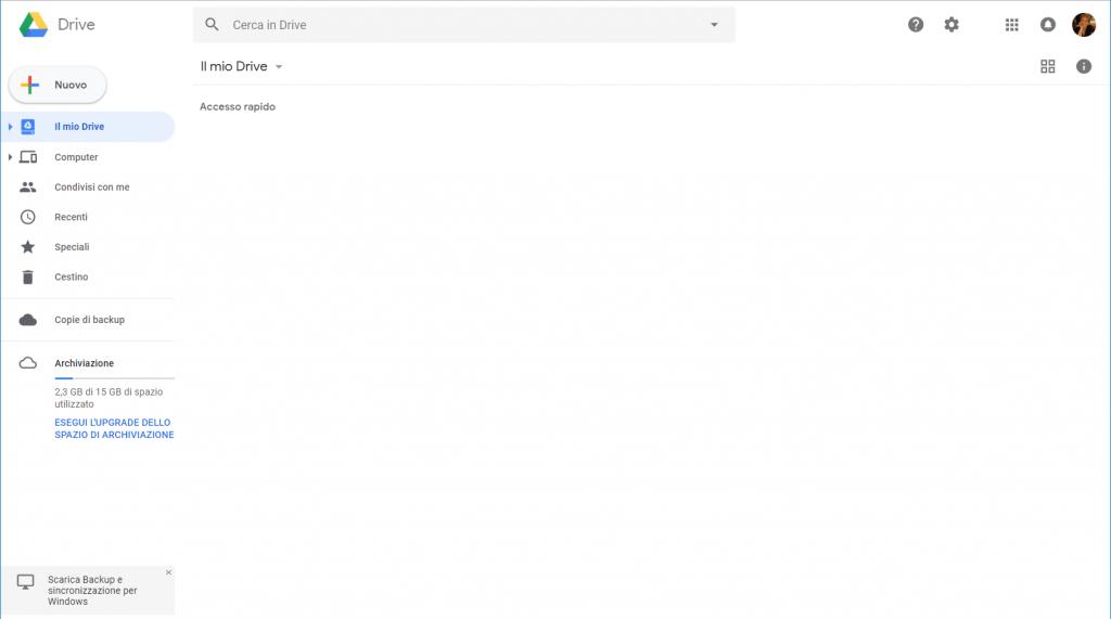 Google Docs - Homepage in italiano