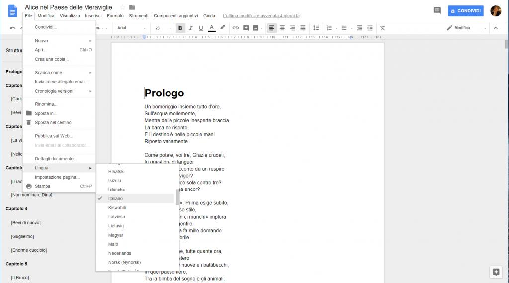 Google Docs - Lingua