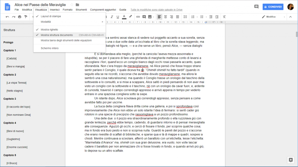 Google Docs - Struttura