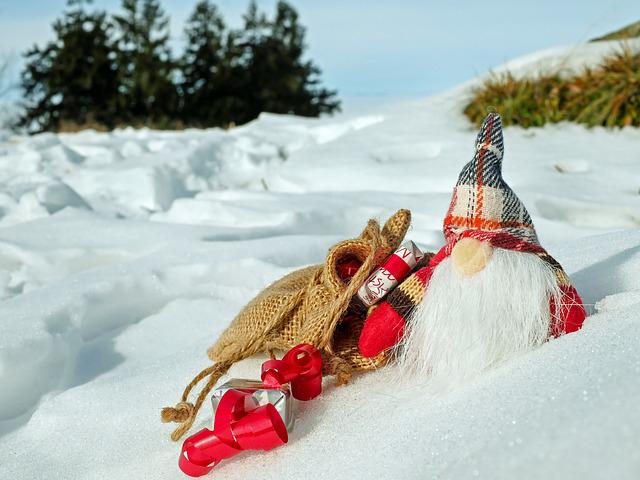 Lettore sulla neve