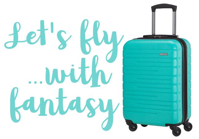 Una bellissima valigia acquamarina - Let's fly with fantasy