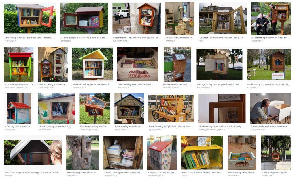 Bookcrossing - casette di libri su Google