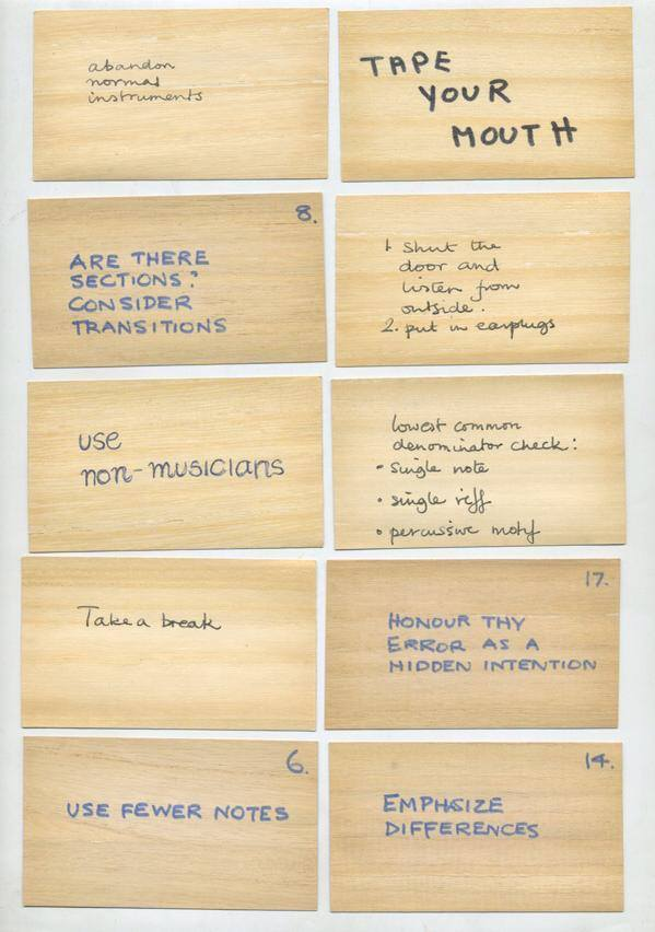 Oblique strategies di Brian Eno