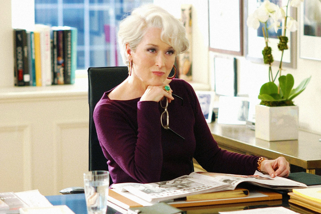 La pazienza di Meryl Streep ne Il diavolo veste Prada - vanityfair.com - Vanity Fair from collection CHRISTOPHEL/ALAMY