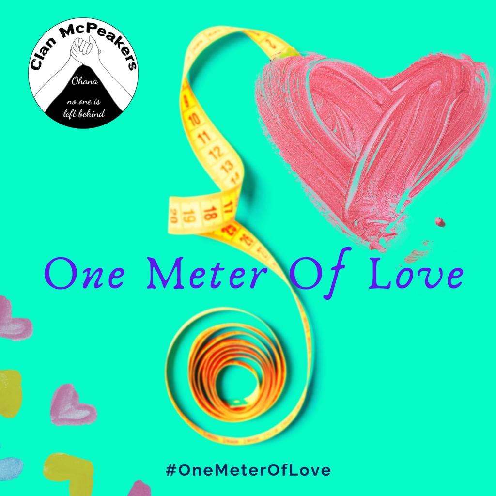 One meter of love challenge for coronavirus. ClanMcPeakers