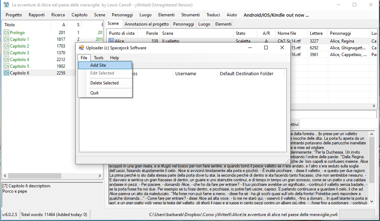 yWriter6 - Backup FTP 2
