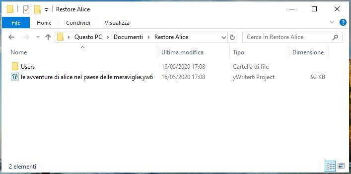 yWriter6 - Backup restore 5