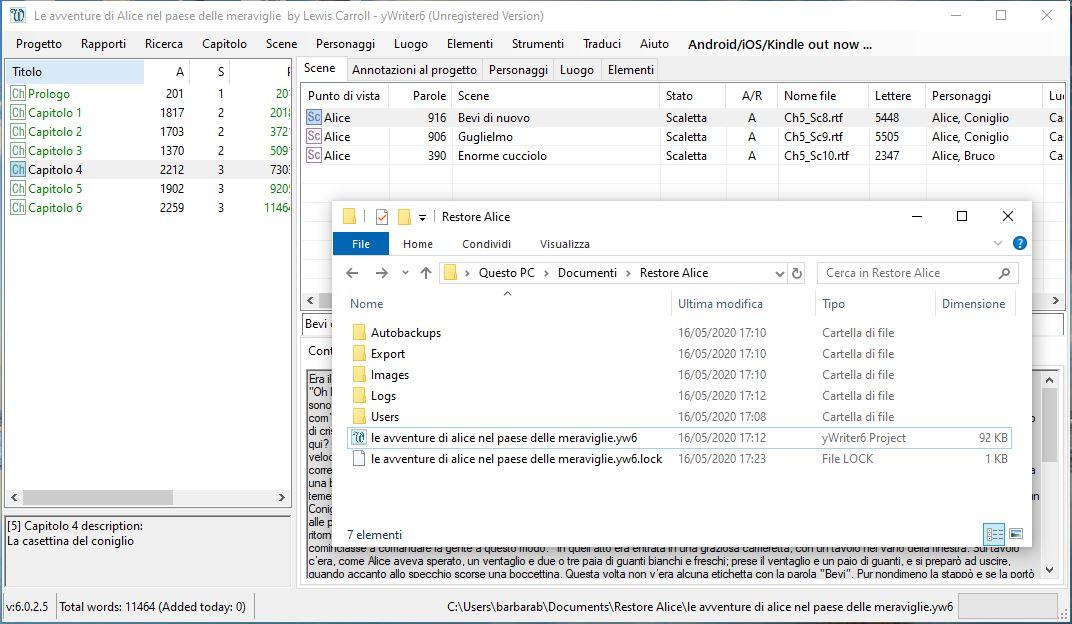 yWriter6 - Backup restore 6