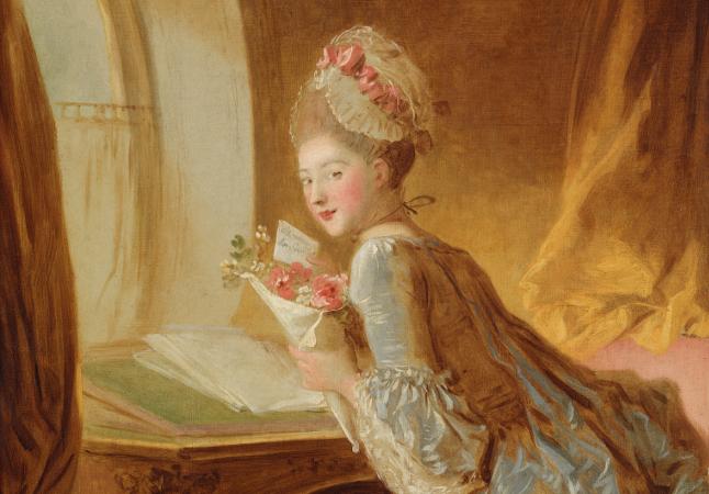 Jean Honoré Fragonard - La lettera. Dalla copertina di Fanny Hill. Memorie di una donna di piacere di John Cleland