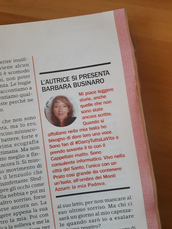 Confidenze numero 25-2020 - Biografia Barbara Businaro