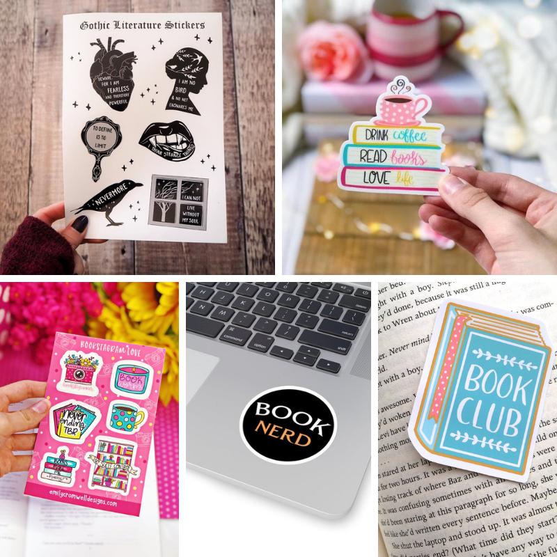 Regali per lettori (e scrittori): adesivi letterari