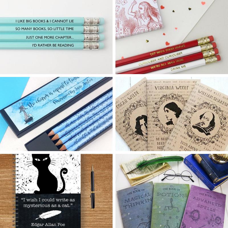 Regali per lettori (e scrittori): cartoleria a tema letterario