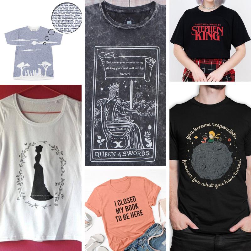 Regali per lettori (e scrittori): magliette letterarie