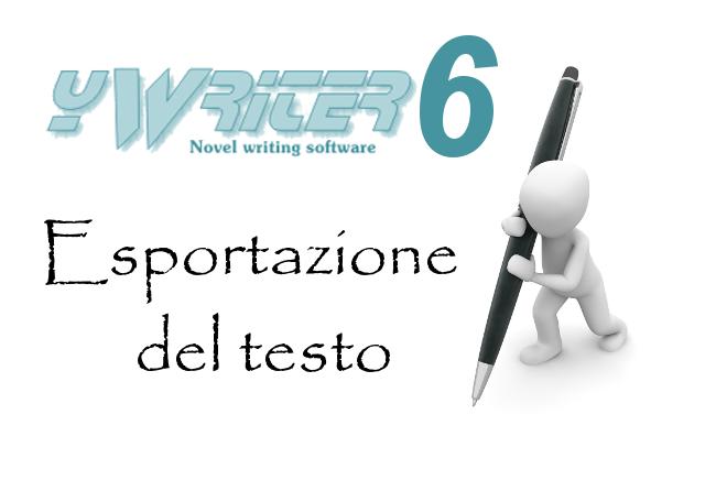 yWriter6 - Esportazione del testo