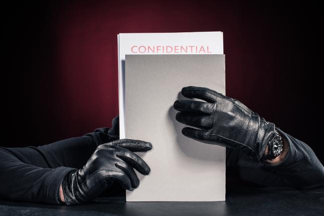 Attacco di phishing con furto dei manoscritti.