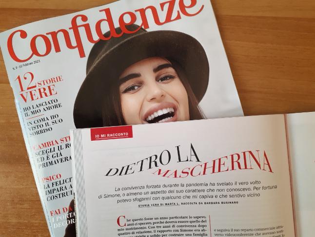 Confidenze numero 09-2021 - Dietro la mascherina - Storia vera di Marta L. Raccolta da Barbara Businaro